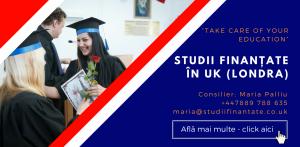 Maria Palliu consilier Studii Finantate UK Universitati Anglia Londra