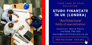 Maria Palliu consilier Studii Finantate UK Universitati Anglia Londra Architecture