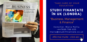 Maria Palliu consilier Studii Finantate UK Universitati Anglia Londra Business, Management, Finance