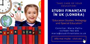 Maria Palliu consilier Studii Finantate UK Universitati Anglia Londra Education Studies, Pedagogy and Special Education
