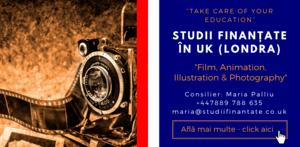 Maria Palliu consilier Studii Finantate UK Universitati Anglia Londra Film, Animation, Illustration & Photography