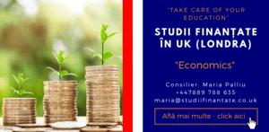 Maria Palliu consilier Studii Finantate UK Universitati Anglia Londra Economics