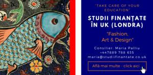 Maria Palliu consilier Studii Finantate UK Universitati Anglia Londra Fashion, Art & Design