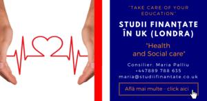 Maria Palliu consilier Studii Finantate UK Universitati Anglia Londra Health and Social care
