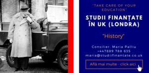 Maria Palliu consilier Studii Finantate UK Universitati Anglia Londra History