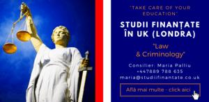 Maria Palliu consilier Studii Finantate UK Universitati Anglia Londra Law & Criminology